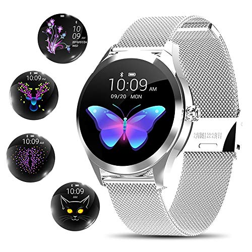 Smart Watch for Women,Elegant&High-end Sylish Stainless Steel IP68...