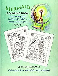Mermaid Coloring Books For Adults Whimsical And Fantastic Illustrators