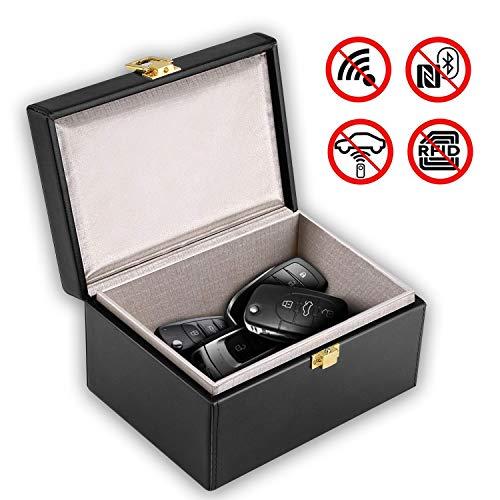 EasyULT Keyless go Schutz Autoschlüssel Box, Autoschlüssel Signal Blocker Box, Funkschlüssel Abschirmung Diebstahlschutz Strahlenschutz Schutzhülle, RFID Entry Safe Case, Car Key Signal Blocker Case