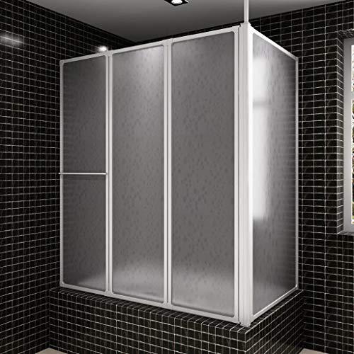 Geniet van winkelen met Bad en douchescherm L-vorm 70 x 120 x 140 4 panelen