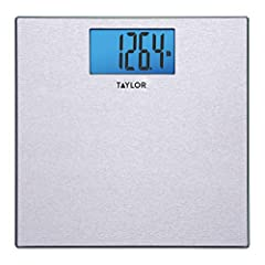 """11.8""""x11.8"""" stainless steel platform with 4.2""""x2.3"""" LCD with Accu-Glo blue back light. 400LB(180KG) Capacity with 0.2LB increments available in (LB,KG,ST). Features instant on, auto off, and low battery indicator. Includes 2 AAA batteries and 5 year ..."""