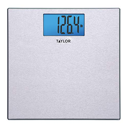 Taylor Digital 440 Pound Capacity Bathroom Scale/Stainless Steel/Glass