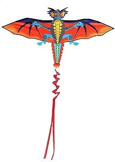 カイト 30m3Dフライングドラゴン柄カイトファミリーアウトドアスポーツフライング玩具 スタイリッシュでキュート (色 : Multi-colored, Size : One ...