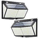 Luz Solar de Exterior, Mejoradas 2-Paquete 288 LED Luces Solares, 3 Modos...