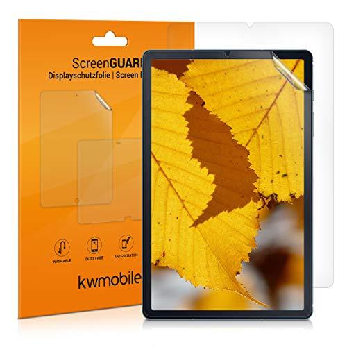 kwmobile 2X Folie kompatibel mit Samsung Galaxy Tab S6 Lite - Full Screen Tablet Schutzfolie klar