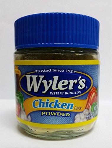 Wylers Instant Bouillon Chicken Flavor Powder, 3.75 oz (Pack of 8)