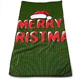 magic ship Navidad Postal Retro Toallas de Mano Paño de Cocina Lino Floral Súper Suave Extra Absorbente para baño, SPA y Gimnasio 12 X 27.5 Pulgadas