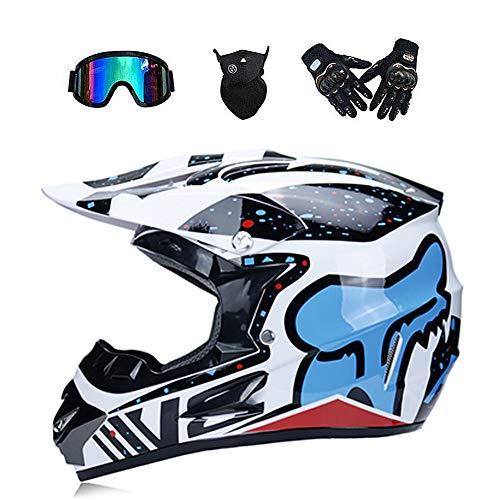 ZHONGST Motocross Cascos para Hombre Y Mujer Bicicletas De Montaña Cascos Integrales...