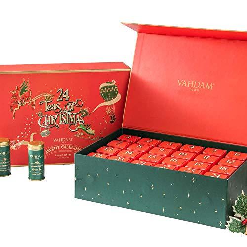 VAHDAM, Te di Natale - Set Regalo con Tè Assortiti | Set con 24 Tisane in Confezione Regalo - 100%...