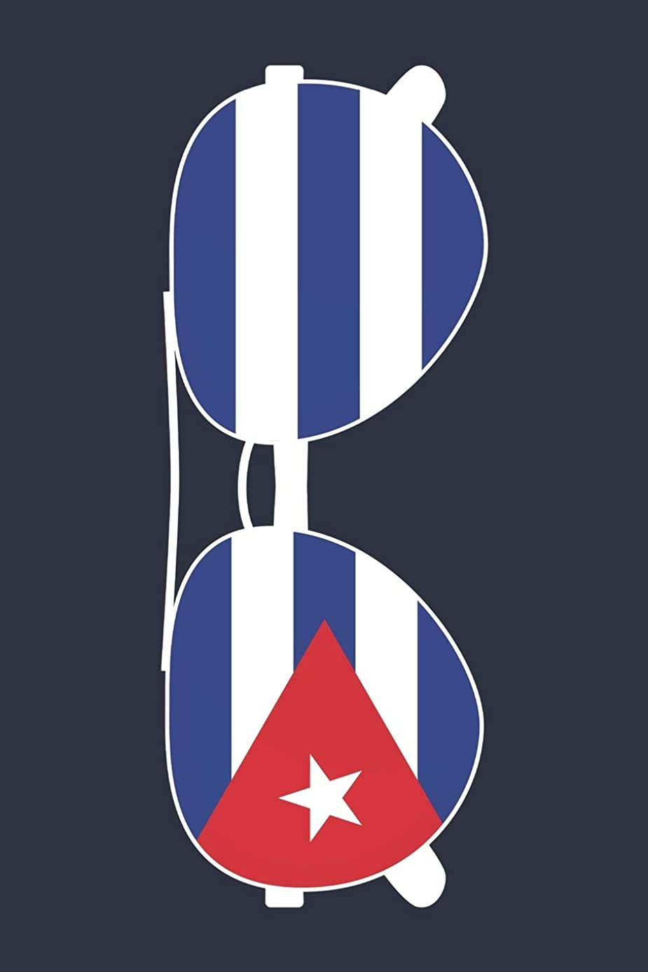 Cuba Notebook 'Cuba Sunglasses' - Holiday Planner - Cuban Flag Diary - Cuba Travel Journal: Medium College-Ruled Journey Diary, 110 page, Lined, 6x9 (15.2 x 22.9 cm)