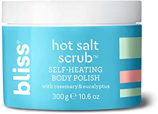 Bliss Hot Salt Scrub, Self-Heating Body Polish | Warming Scrub to Exfoliate, Heal, and Smooth Skin | Straight-from-the Spa | Paraben Free, Cruelty Free | 10.6 oz