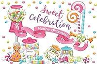 HD 誕生日の装飾ピンクの女の子ロリポップの誕生日パーティーの写真の背景ケーキ表幼稚園写真撮影の小道具ビニール壁紙のための甘いキャンディの背景10x7ft