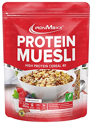 Ironmaxx Protein Muesli 550 g, Chocolat Noir