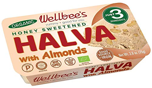 Wellbee's Honey Halva - Paleo & SCD Approved - No Additives, Refined-Sugar, or Artificial Sweeteners - 75g Each - 3 Pack (Almond – Organic)
