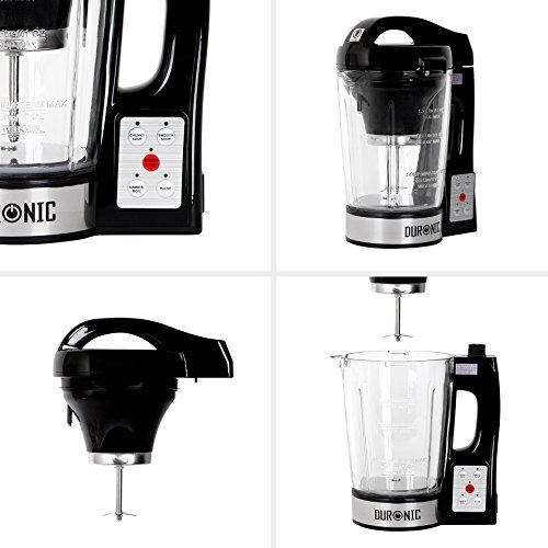 Duronic BL78 elektrischer Standmixer/Suppenbereiter / Babynahrungszubereiter/Thermalmixer und Kochmixer mit 1,2L Glasbehälter – Suppe auf Knopfdruck kreiert - 4