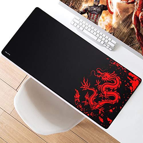 JIALONG XXL Speed Gaming Mauspad Groß Mousepad 900x400x3mm Schreibtischunterlage Wasserdicht Anti Rutsch Spezielle Oberfläche Verbessert Präzision und Geschwindigkeit für Gamers