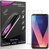SWIDO Panzerglas Schutzfolie kompatibel mit LG V30 Displayschutz-Folie und Glas = biegsames HYBRIDGLAS, splitterfrei, Anti-Fingerprint KLAR - HD-Clear