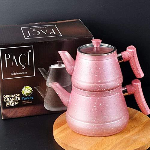 gousheng Tetera de Granito Té Turco Calentador de Agua Tetera doméstica Té Caliente Filtro de té |
