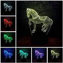 Night Light Kids Animal Horse 3D USB LED Lamp 7 Color Change Flash China Style Zebra Home Bedroom Innovative Device Decora...