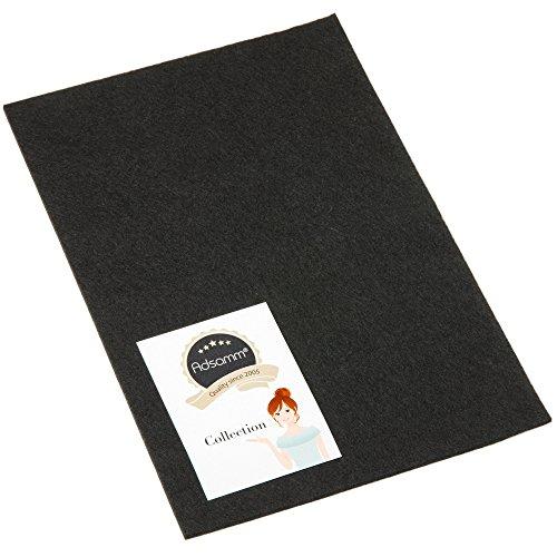Adsamm® | selbstklebende Filzplatte | 200x300 mm | Schwarz | rechteckig | 3.5 mm starker Filzzuschnitt in Top-Qualität von Adsamm®