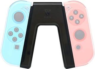【Nintendo Switch対応】『V字型Joy-Conグリップ』「人間工学に基づいた設計で肩や肘の緊張を緩和、 超軽量・超コンパクトで収納・持ち運びに便利」PLEVE 任天堂スイッチ専用 オリジナル軽量ジョイコングリップ