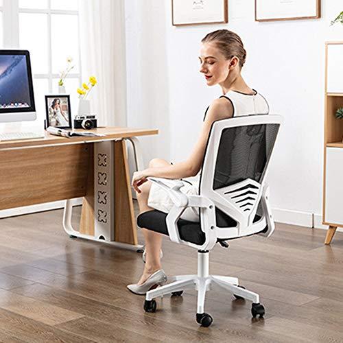 DJLOOKK Sillas ejecutivas y sillas gerenciales, sillas de Escritorio de Oficina, sillas para Juegos de computadora, con Brazos abatibles y Soporte Lumbar, Silla ergonómica para Deportes electrónicos