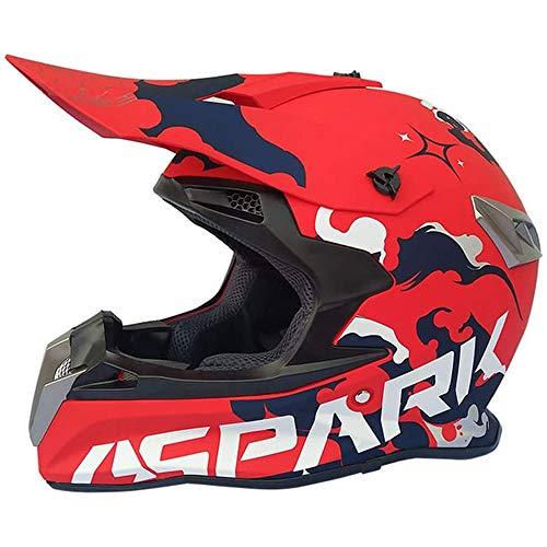 Motocross Helm Full Face MTB Helm Motorradhelm, Gebraucht Für Vierfach-Fahrrad ATV Downhill BMX Enduro Sport Sicherheit Schutz, D.O.T Zertifizierung,XL