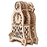 GuDoQi Puzzle 3D Madera, Maqueta de Reloj de Péndulo Mecanicas para Montar, Rompecabezas Madera 3D para Construir, Kit de Manualidades DIY, Juguete de Montaje, Pasatiempos para Adultos