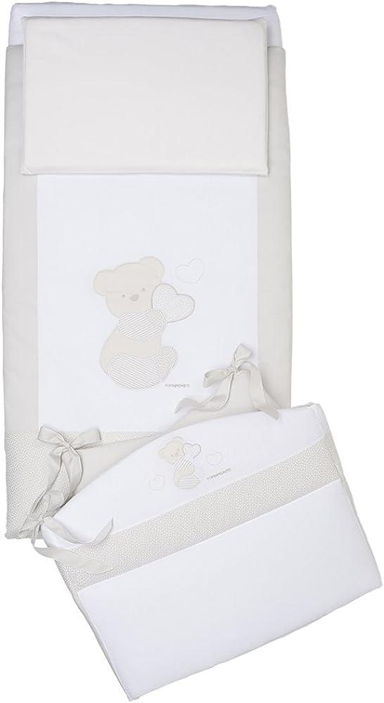 Foppapedretti dolcecuore completo piumone con paracolpi, bianco B2_0559433