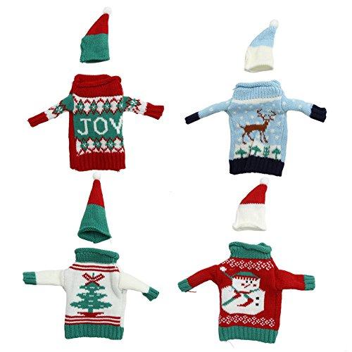 Longzhuo Fundas para botellas de vino navideñas, 1 pieza para Navidad, fiestas, decoración de mesa, regalos