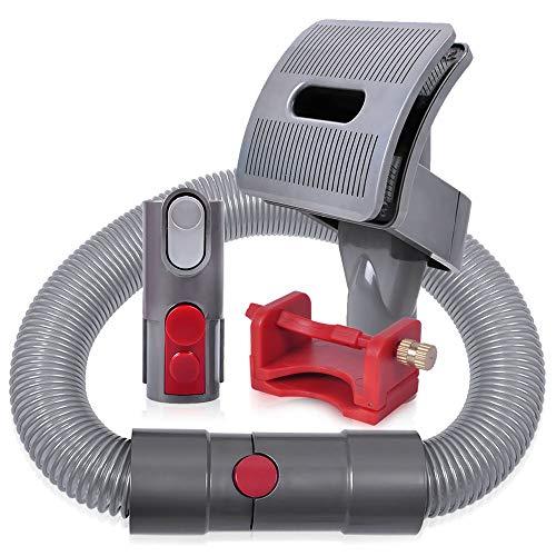 KEEPOW Groom Hundebürste für Dyson Staubsauger, Hund Tierhaarbürste Aufsatz Set mit Schalter (Feste Taste beim Saugen) für Dyson V11 V10 V8 V7 V6