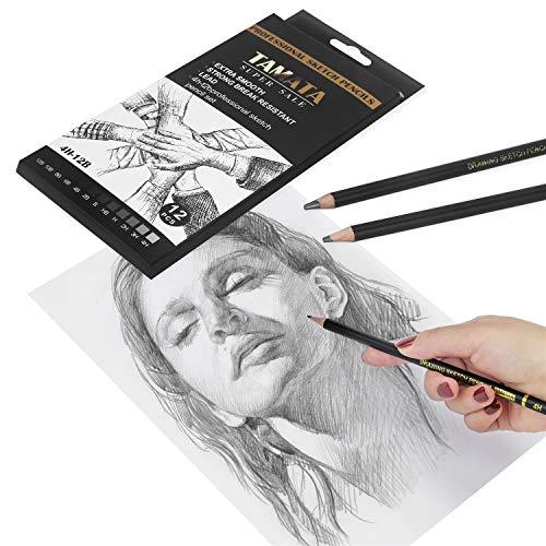TAMATA Professional Drawing Sketching Pencil Set - 12 Pieces Art Drawing Graphite Pencils(12B - 4H), Ideal for Drawing Art, Sketching, Shading, for Beginners & Pro Artists Photo #5