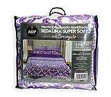 ADP Home - Conforter Sedalina Estampada Sofía con Borreguito (240x220 CM) + 2 Fundas de Almohada con Volante (50x70 +5 CM)