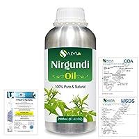 Nirgundi (Vitex negundo) 100% Natural Pure Essential Oil 2000ml/67 fl.oz.