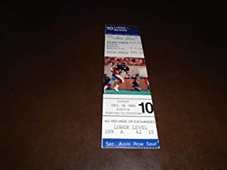 1990 CHICAGO BEARS AT DETROIT LIONS FOOTBALL FULL TICKET BARRY SANDERS