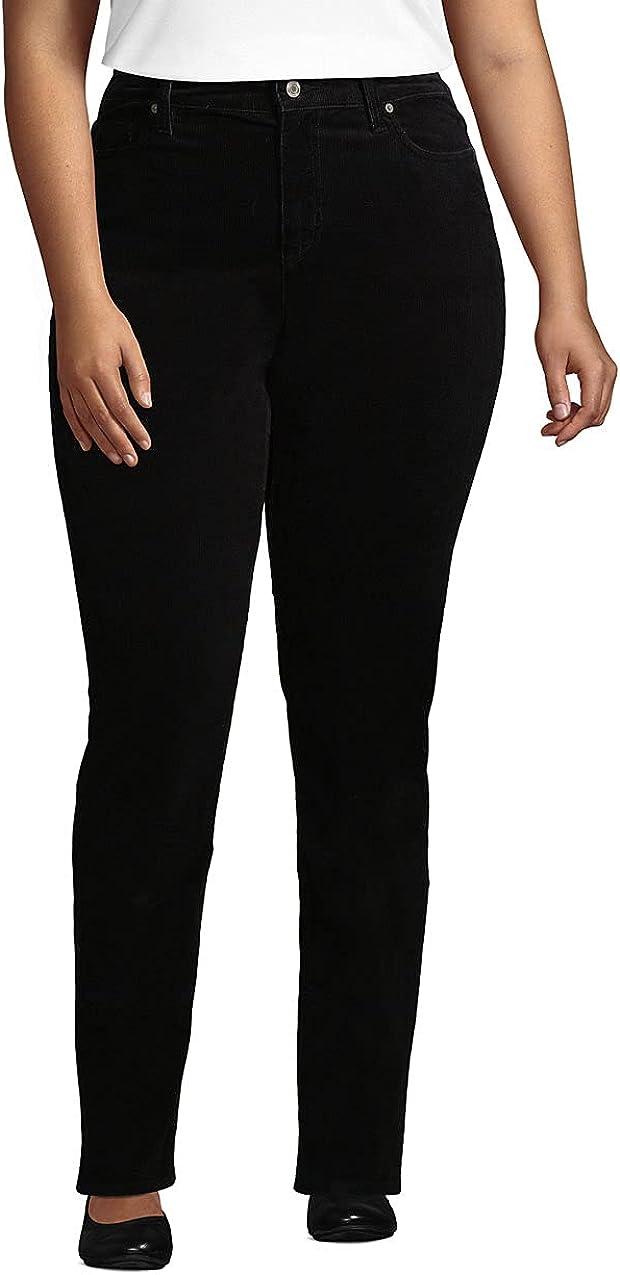 Lands' End Women's Plus Size Pre-Hemmed Flannel Straight Leg Pants