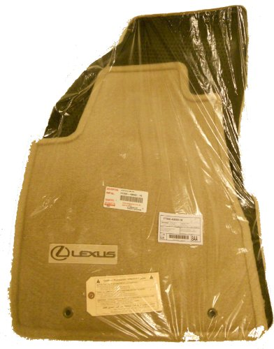 LEXUS Genuine, 2004-2009 RX330 RX350 Carpet Floor Mats, Ivory/Tan