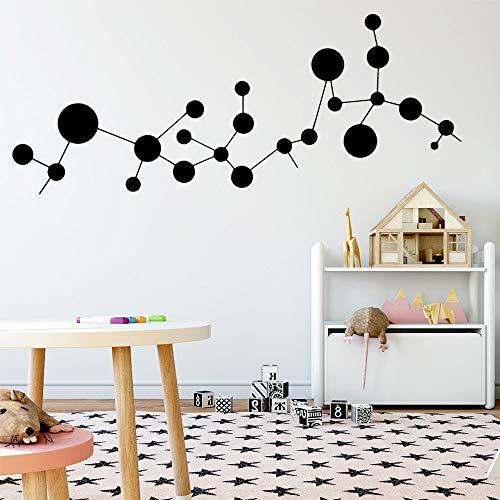Yaonuli prachtige moleculaire muurstickers vinyl waterdicht muursticker voor kinderkamer woonkamer
