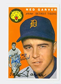 Ned Garver AUTOGRAPH D.17 Topps 1954 Archives Detroit Tigers