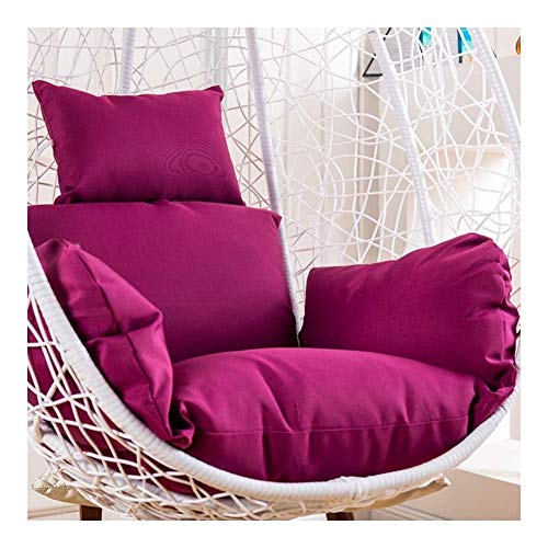 BVCK Hanging egg chair cushion,Soft and Comfortable removable Egg Nest Chair Pads universal Swing Seat Cushion Hammock Chair Cushion 914 (Color : Purple)