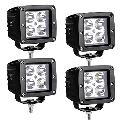 LED Light Bar LEDKINGDOMUS 4 Pack 20W 4inches Spot Cube LED Work Light Pod Off Road Light Led Fog Light Truck Light Driving Light Boat Light Compatible for Pickup, Truck, Jeep, SUV, ATV, UTV