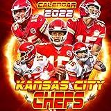 """Kansas City Chiefs calendar 2022: soccer calendar 2022.SPORT Calendar 2022-2023 – 18 months – BIG SIZE 17""""x11"""". Planner for all fans kids boys"""