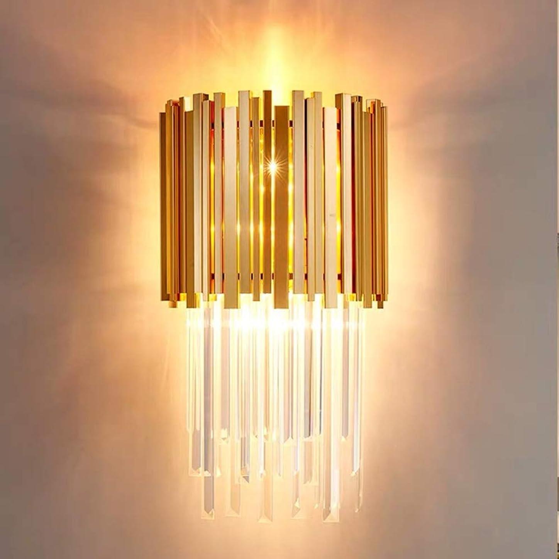 活性化スリッパ倫理Rjj クリエイティブクリスタル現代のミニマリズムリビングルームの寝室のベッドサイドライト雰囲気のヴィラの高級デザイナーの壁ランプ35 * 55センチ あたたかい