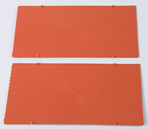 Auhagen 52216.0 - Dachplatten Biberschwanz, 10 x 20 cm Struckturfläche, bunt