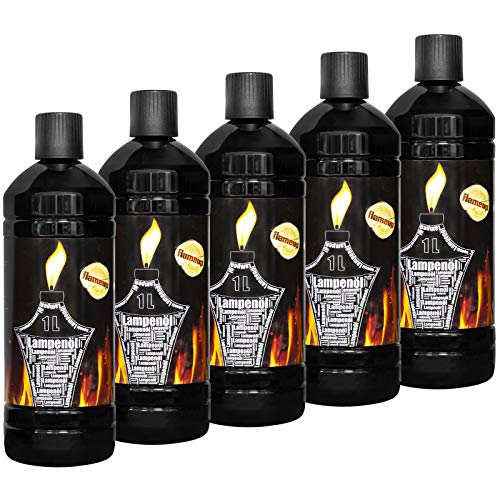 Lampenoel Lampenöl Petroleum Lampe Garten Oel Fackeln Fackel Laterne Öl Innen Camping 5 Liter Flasche Outdoor Oil Öllampe flüssig Gartenfackel Flameup