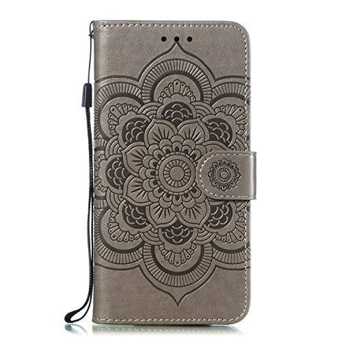 Boloker Cover per Huawei Honor 20 PRO [con Pellicola in Vetro Temperato], Fiore Carino Retro Flip...