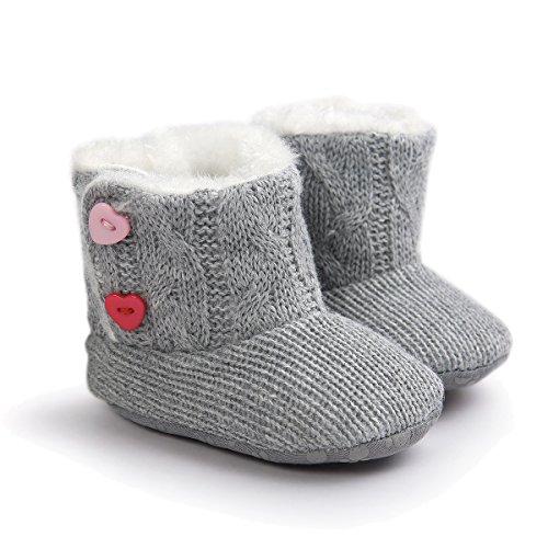 TININNA hiver chaud Carino Gris Bottes de laine Bottes de neige bottes de coton Baby Shoes Chaussures Enfant 13 cm gris