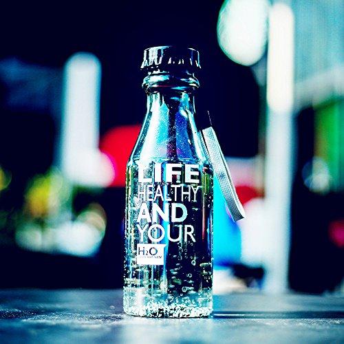 LTE 550 ml Botella de Agua irrompible Deportes al Aire Libre Viajes portátil a Prueba de Fugas de Fugas Camping Copa de Agua Taza de Botella de Bebida plástica