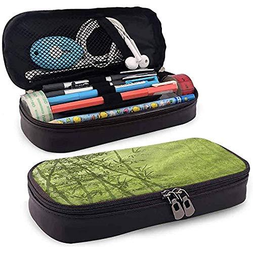 Bleistiftbeutel, federmäppchen tasche, federmäppchen, große kapazität studenten schreibwaren exotischen grünen bambus wachstum 20 cm * 9 cm * 4 cm