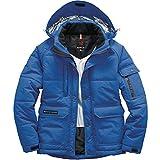 BURTLE バートル 防寒ジャケット(大型フード付)(ユニセックス) 秋冬用 7510 47 サーフブルー L